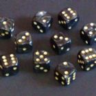 16mm Pearl Spot Dice - Grey